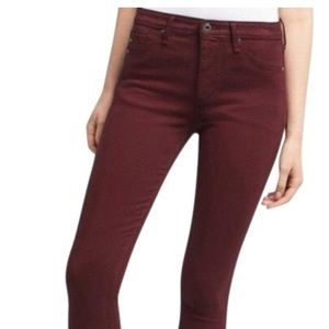 AG red skinny jeans size 26
